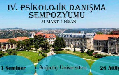 Boğaziçi Üniversitesi IV. Psikolojik Danışma Sempozyumu