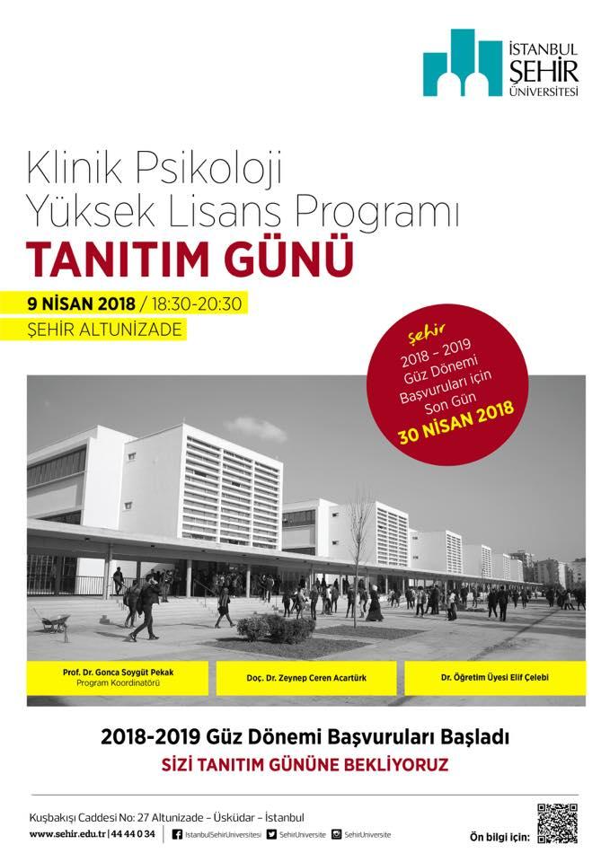İstanbul Şehir Üniversitesi Klinik Psikoloji YL Programı Tanıtım Etkinliği