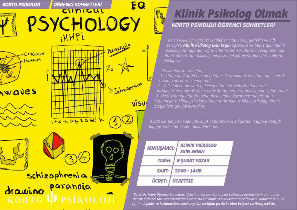 Klinik Psikolog Olmak ucretsiz seminer